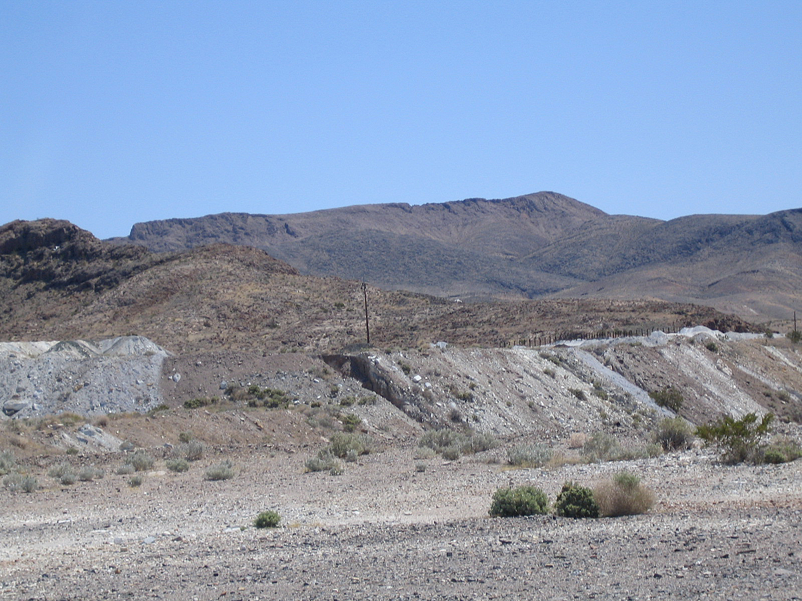 Overburden at a talc mine. Photo by Bill Albright.