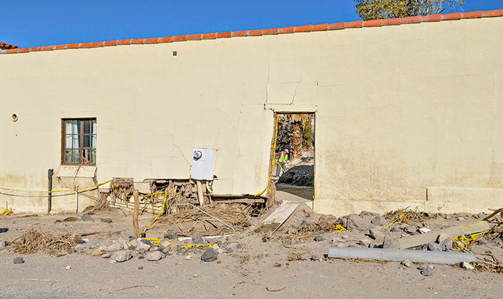 Damage to Long House. Photo by Neal Nurmi